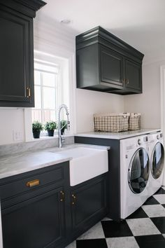 This laundry room was also the owners entrance into their house from the garage so. it needed intervention. Entrance into the home… Modern Laundry Rooms, Laundry Room Layouts, Laundry Room Remodel, Laundry Room Design, Interior Design Living Room, Living Room Designs, Interior Livingroom, Pantry Room, Laundry Room Inspiration