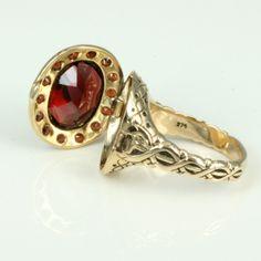 "Garnet ""posion"" cluster ring"