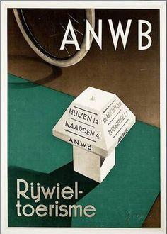 Reclame-affiche voor de ANWB, tussen 1925-1949, J.A.W. von Stein