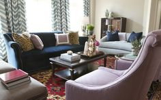 fabric on drapes Summer thornton design inc portfolio interiors eclectic traditional transitional living room family room great room Living Room Decor, Living Spaces, Family Room, Home And Family, Chevrons, Transitional Living Rooms, Up House, Design Blog, Living Room Inspiration