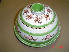 Ceramic painted butter dome by Lisa B's Art Studio