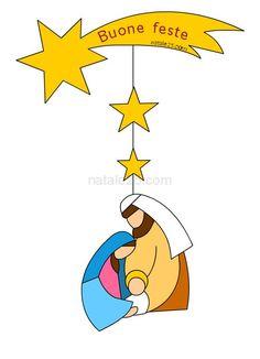 Addobbi di Natale con stelle e Natività
