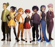 all kwamis as humans / kwamis as humans - miraculous kwamis as humans - miraculous ladybug kwamis as humans - all kwamis as humans Ladybug Kwamis, Ladybug Y Cat Noir, Ladybugs, Hora Cartoon, Tikki Y Plagg, Les Miraculous, Pet Anime, Character Inspiration, Character Design