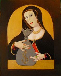 Titolo:Ecco il vero dio     Misure:45 x 35  Tecnica:Acrilico su legno  Anno:2011