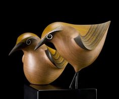 trocando arte- wood birds