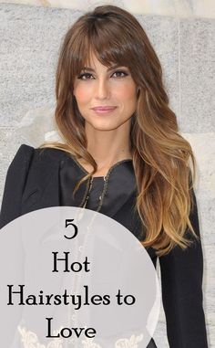 Body scrub recipe also on this page.   5 Hot Hairstyles to Love - Love her bangs!