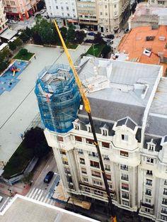 Rehabilitación de la cúpula del Edificio Barrié #Coruña #construcción