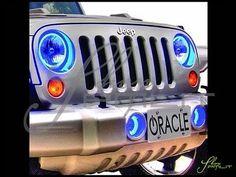 Jeep 07+ Wrangler JK LED WHITE-BLUE Angel Eyes Demon HALO Fog Light Bulbs Kit Oracle Lights, Jeepers Creepers, Blue Led Lights, Headlight Bulbs, Jeep Wrangler Jk, Blue Angels, Angel Eyes, Jeep Life, The Ordinary