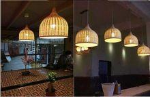 EMS FREE SHIIPING newest Rustic rattan restaurant lamp balcony lamps rattan pendant light dining lamp(China (Mainland))