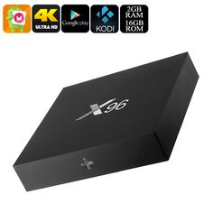 X96 Android 6.0 TV Box - Quad-Core CPU, 4K Movie Support, Airplay, Miracast, Google Play, Kodi TV, 16GB Memory - The X96 TV Box is a stunning 4K TV box that runs on an Android 6.0 operating system. It packs a powerful Quad-Core CPU and 8GB ROM.