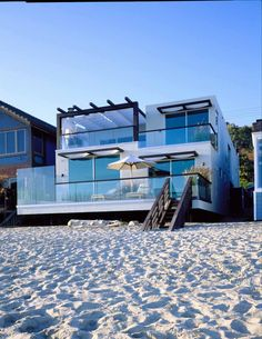 My dream home would be the beach home with sand and surf and my dog in my back yard.