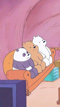Cute Panda Wallpaper, Bear Wallpaper, Mood Wallpaper, Cute Disney Wallpaper, Kawaii Wallpaper, We Bare Bears Wallpapers, Panda Wallpapers, Cute Wallpapers, Ice Bear We Bare Bears