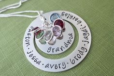 Love this Grandma necklace...great Mother's Day idea!