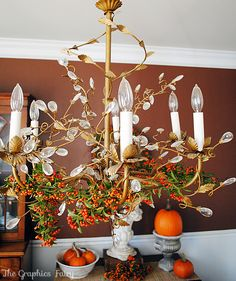 9 Best Autumn Chandelier Images Autumn Decorating Fall