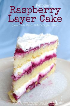 Special Occasion Keto Raspberry Layer Cake: Filled with raspberry reduction and mascarpone cream then topped off with a bit of keto buttercream this cake is every bit as good as a bakery cake. You can take it to a special event and its good enough tha Low Carb Sweets, Low Carb Desserts, Low Carb Recipes, Low Carb Cupcakes, Healthy Cake Recipes, Keto Cake, Keto Cheesecake, Blackberry Cheesecake, Sugar Free Desserts