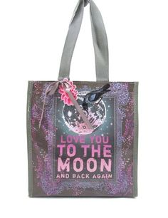 PAPAYA ART INSULATED LUNCH BAG ~ TO THE MOON & BACK ~ MEDIUM LUNCH TOTE ~ NEW #PapayaArt