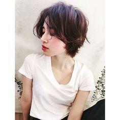 WEBSTA @ belleiida - Belleスタイル#Belle #atLAV #hair #ヘアスタイル#セミウエット #ショート#赤リップ#藤原愛莉