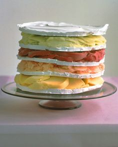 Rainbow Sorbet Cake instead of green for St Patrick's Day (or any day)