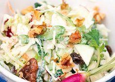 Σαλάτα λάχανο με μήλο Salad Bar, Soup And Salad, Healthy Cooking, Cooking Recipes, Vegetarian Recipes, Healthy Recipes, Appetisers, Food For Thought, Soul Food