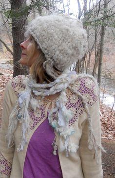 scarf rustic enchanted forest fiber braid lariat door beautifulplace, $40.00