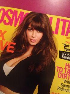Kim Kardashian Bangs on @Cosmopolitan. Rock Em or Wreck Em?