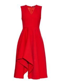 V-neck sleeveless wool-blend dress | Alexander McQueen | MATCHESFASHION.COM US