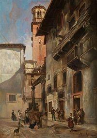 Stadtansicht in Verona, Vittorio Avanzi