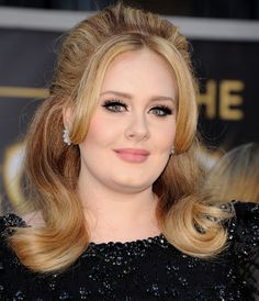 Adele's glam retro look: http://www.stylemepretty.com/2015/11/04/celebrity-hair-makeup-looks-to-steal-for-your-wedding/