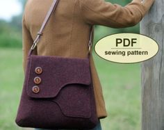 New: Sewing pattern to make the Breckland Bag  PDF by charliesaunt