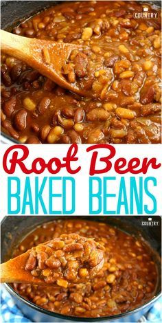 Beer Baked Beans Root Beer Baked Beans recipe from The Country Cook.Root Beer Baked Beans recipe from The Country Cook. Baked Bean Recipes, Vegetable Recipes, Crockpot Recipes, Cooking Recipes, Beans Recipes, Steak Recipes, Vegetarian Recipes, Side Dish Recipes, Dinner Recipes