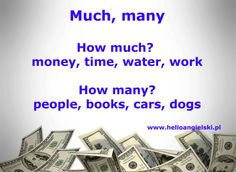How much? How many? Much, many English Study, English Class, Learn English, How Many People, English Language, Grammar, Back To School, Girls Wear, Learning