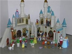 "Disney Exclusive Cinderella's Castle Playset with 10 Disney Poseable Characters (Jasmine, Alladin, Sleeping Beauty, Prince Philip, Snow White, Prince Charming, Belle and Beast) by Disney. $125.88. Exclusive only to Disney world - not available in any store. features all your favorite PVC posable Figures from all your favorite movies - 10 in all. Direct from the Walt Disney World Resort Theme Park Exclusive ""New Cinderella Castle Playset"" *CASTLE INCLUDES 10 POSE ABLE FIGURE..."