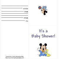 Baby Mickey  Shower Invitation