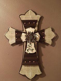 Wood and Metal Layer Crosses
