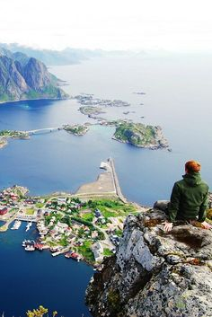 Lofoten, Norway. What a view.