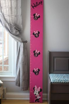 Oversized Handmade Wooden Ruler Minnie Mouse by JCraftDesigns
