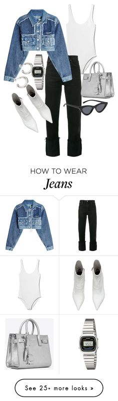 """Untitled #23699"" by florencia95 on Polyvore featuring Gap, RE/DONE, Off-White, Yves Saint Laurent and Casio"