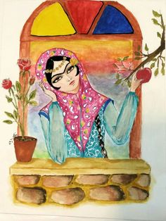 Khatoon & apple by saghi haghighat