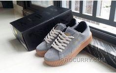 a2cbd5c008f Puma Fenty By Rihanna Suede Creepers Grey