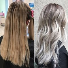 Before & After  Brassy ✌Beautiful  . . . Ashley drove 3 hours to see me! She wanted rid of all the warmer tones in her hair while keeping some darker dimension, so I went in with babylights, with @olaplex leaving about a 1/4 inch section in between each highlight, with a lowlight (3-1) of a level 8 ash, demi, pulled only halfway down (to keep her ends nice & bright) and then I balayaged her ends left out. I smudged her root with shades eq 6t + 7N--and used the @wowcomb to blend her s...