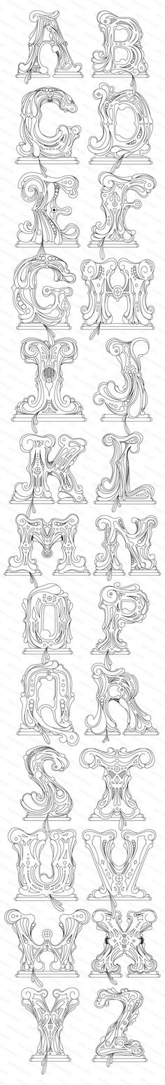 Royal Highness Font by Eric Vasquez, via Behance