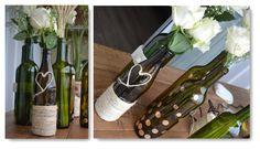 reciclagem garrafa de vinho: decoração com corda de sisal. Reciclagem de garrafas de vinho: veja como fazer! Arteiras de Coração www.arteirasdecoracao.com.br