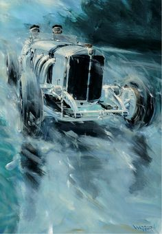 Austrian Artist Captures Gesture and Motion #Mercedes #Silver Arrows #MercedesBenzofHuntValley