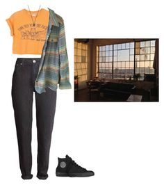 """""""#33"""" by ece-f ❤ liked on Polyvore featuring Converse, Patagonia, FOSSIL and vintage"""