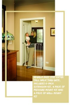 Bonus Kit Includes 6-inch Extension Consumers First Easy Step 39-inch Extra Wide Baby Gate