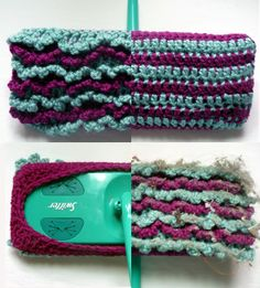 MAKE | CRAFT Pattern: Crocheted Reversible Swiffer Sock These are awesome! I made one and it works great. So quick to crochet and it is useful!