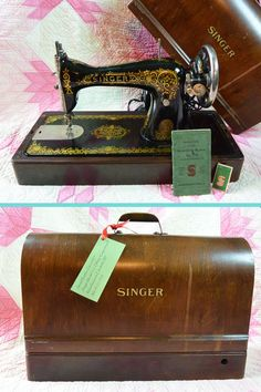 1918 Singer Sewing Machine Model 115 TIFFANY by ScarlettsVault, $520.00