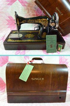 1918 Singer Sewing Machine Model 115 TIFFANY by ScarlettsVault, $520.00