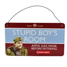 Dads army tin plaque stupid boys room
