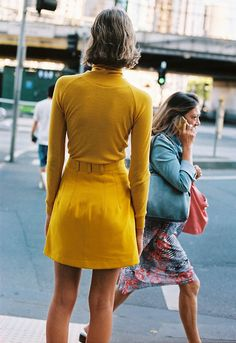 Caves Collect Fall 2016 yellow skirt 70 seventies